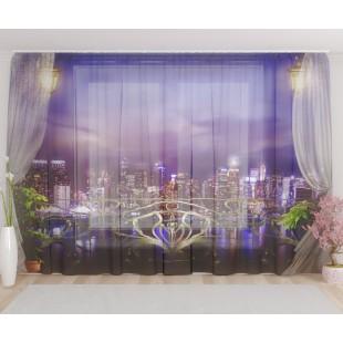 """ФотоТюль широкий """"Балкон в Нью-Йорке"""""""