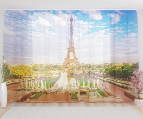 """ФотоТюль широкий """"Лето в Париже"""""""