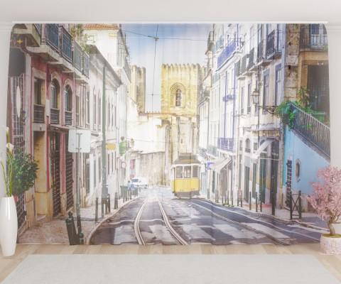 """ФотоТюль широкий """"Лиссабон"""""""