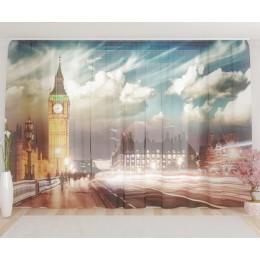 """ФотоТюль широкий """"Лондон 3"""""""