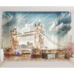 """ФотоТюль широкий """"Лондон 4"""""""