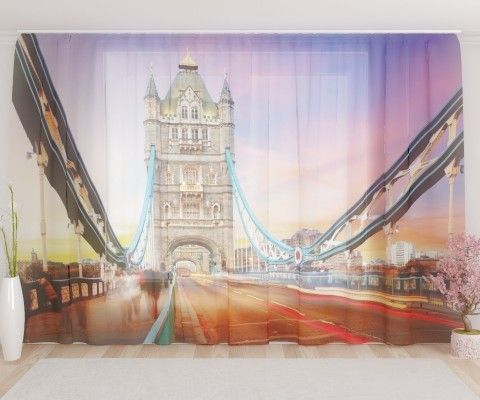 """ФотоТюль широкий """"Лондон 5"""""""