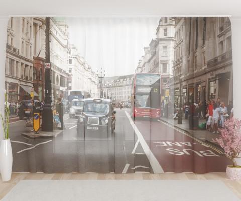 """ФотоТюль широкий """"Лондонский проспект"""""""