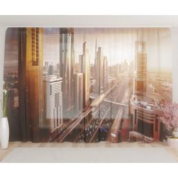"""ФотоТюль широкий """"Магистраль в Дубае"""""""