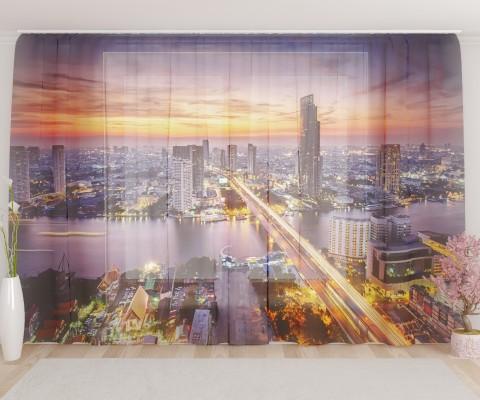 """ФотоТюль широкий """"Ночной Бангкок"""""""
