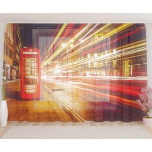 """ФотоТюль широкий """"Ночные улицы Лондона"""""""