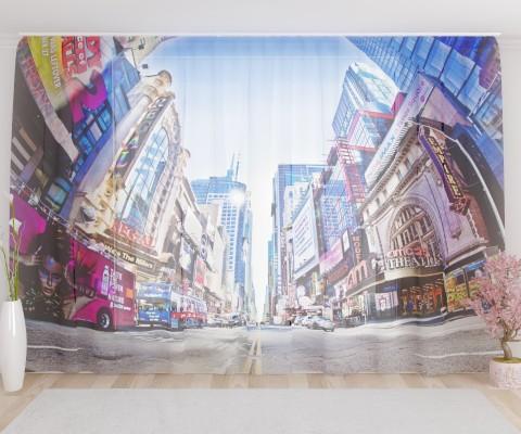 """ФотоТюль широкий """"Нью Йорк 3"""""""