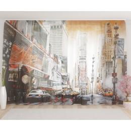 "ФотоТюль широкий ""Нью Йорк. Ретро"""