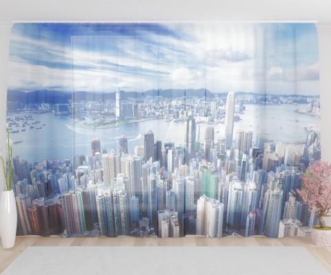 """ФотоТюль широкий """"Нью-Йорк 2"""""""