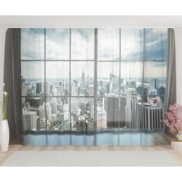 "ФотоТюль широкий ""Окно на Манхеттен"""