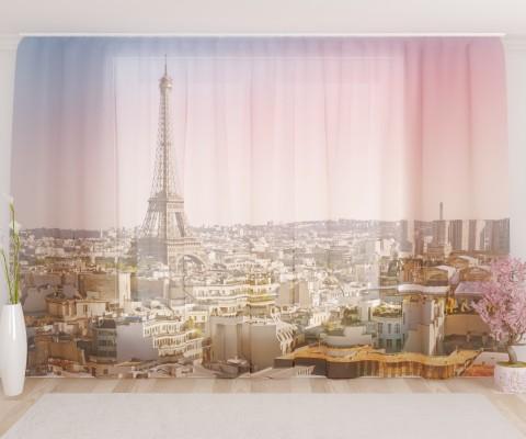 """ФотоТюль широкий """"Осень в Париже"""""""