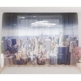 """ФотоТюль широкий """"Прекрасный Нью-Йорк"""""""