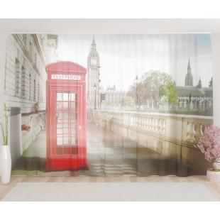 """ФотоТюль широкий """"Телефон у набережной"""""""