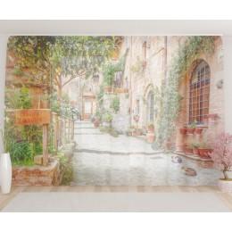 """ФотоТюль широкий """"Улица в Тоскане"""""""