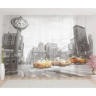 """ФотоТюль широкий """"Улица Нью-Йорка"""""""