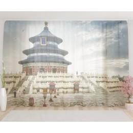 """ФотоТюль широкий """"Храм неба в Пекине"""""""