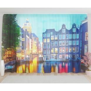 """ФотоТюль широкий """"Церковь в Амстердаме"""""""