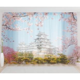 """ФотоТюль широкий """"Японский замок"""""""