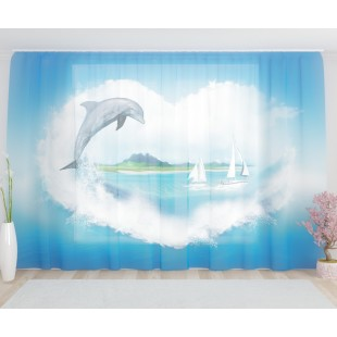 """ФотоТюль широкий """"Дельфин"""""""