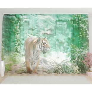 """ФотоТюль широкий """"Величественный тигр"""""""