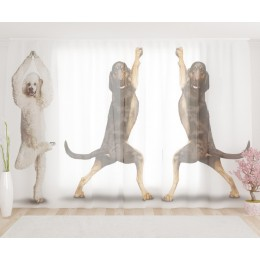 """ФотоТюль широкий """"Танцующие собаки"""""""