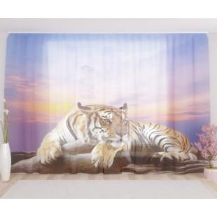 "ФотоТюль широкий ""Тигр"""