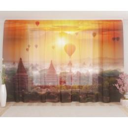 """ФотоТюль широкий """"Воздушные шары в Китае"""""""