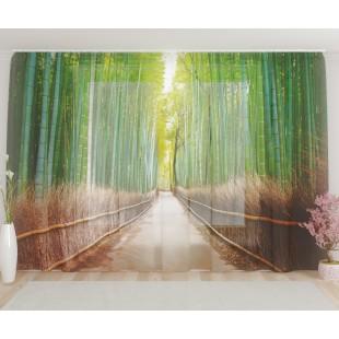 """ФотоТюль широкий """"Бамбуковый лес"""""""