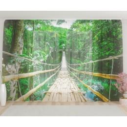 """ФотоТюль широкий """"Бамбуковый мост"""""""