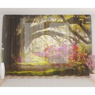 """ФотоТюль широкий """"Лесные цветы"""""""