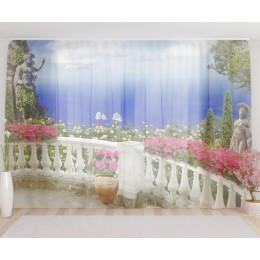 """ФотоТюль широкий """"Греческий балкон"""""""