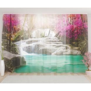 """ФотоТюль широкий """"Лучистый водопад"""""""