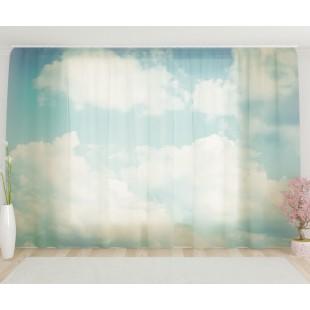 """ФотоТюль широкий """"Облака"""""""
