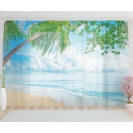 """ФотоТюль широкий """"Пляж"""""""