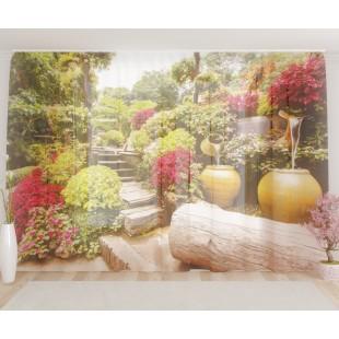 """ФотоТюль широкий """"Прекрасный сад"""""""