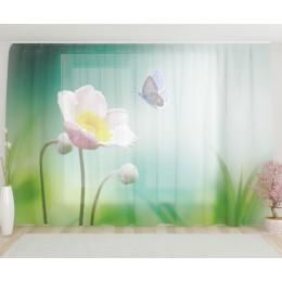 """ФотоТюль широкий """"Приземление на цветок"""""""
