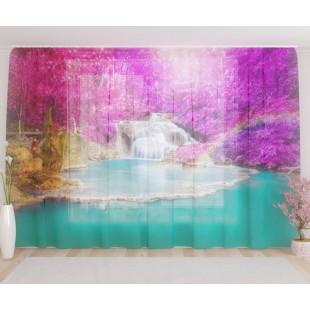"""ФотоТюль широкий """"Радужный водопад"""""""