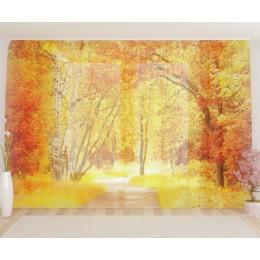 "ФотоТюль широкий ""Ранняя осень"""