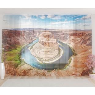 """ФотоТюль широкий """"Река в каньоне"""""""