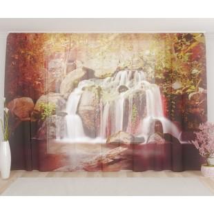 """ФотоТюль широкий """"Тропический водопад"""""""