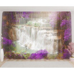 """ФотоТюль широкий """"Утренний водопад"""""""