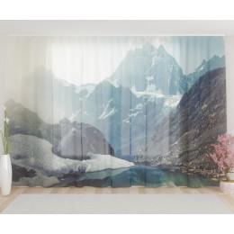 """ФотоТюль широкий """"Утро в горах"""""""
