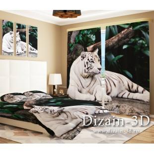 """ФотоШторы """"Белый тигр"""""""