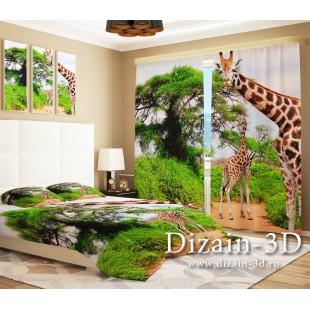 """ФотоШторы """"Два жирафа"""""""