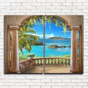 "Модульная картина ""Вид на острова 2"""