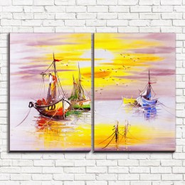 "Модульная картина ""Лодки 2"""