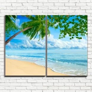 """Модульная картина """"Пляж 2"""""""