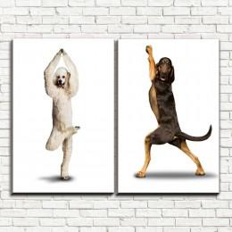 """Модульная картина """"Танцующие собаки 2"""""""