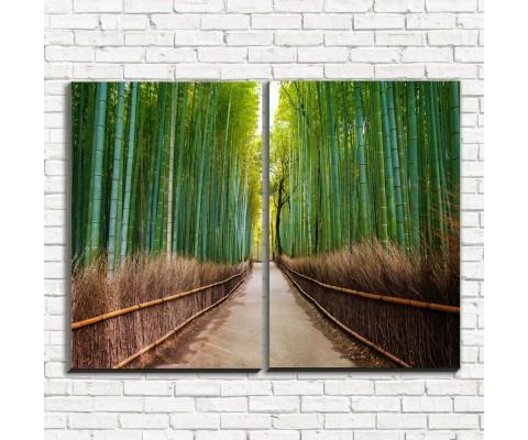 "Модульная картина ""Бамбуковый лес 2"""