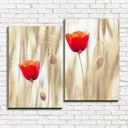"""Модульная картина """"Два тюльпана 2-2"""""""